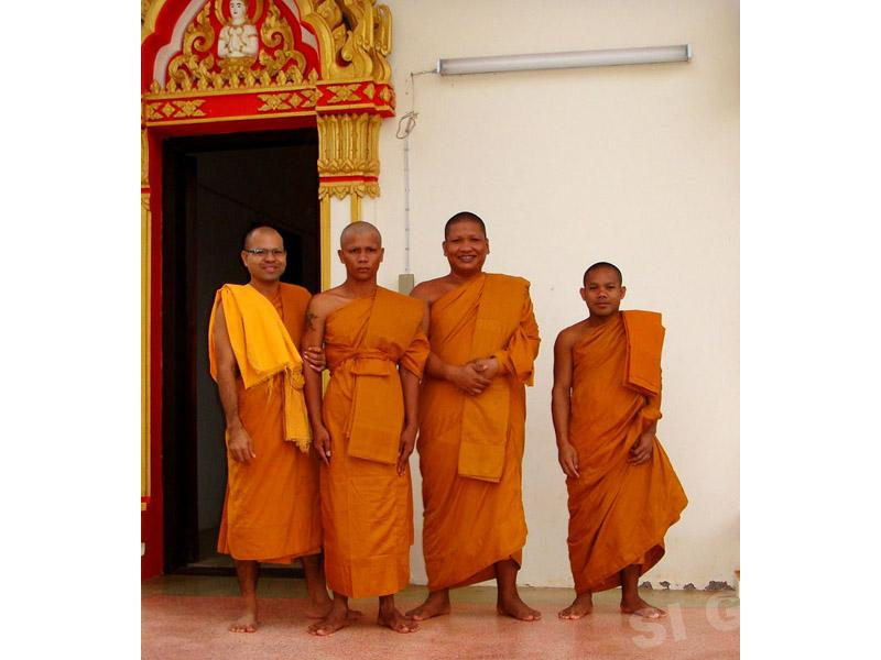 Buddhist monks. The ceremony of ordination