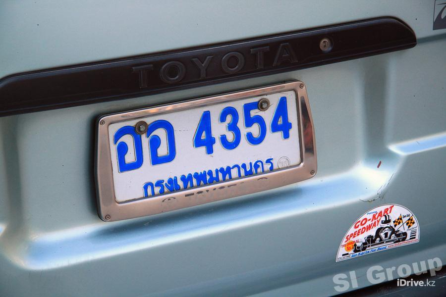 Thai numbers on cars and motorcycles