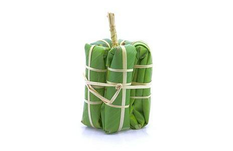 태국 요리에 바나나 잎