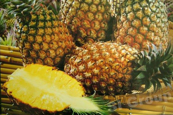 Ананас Pinapple Thai (тайское название): Sap Pa Rod Season (сезонность): All year round Availability (вид): Fresh and Frozen Packaging (упаковка): Tray or Carton Box