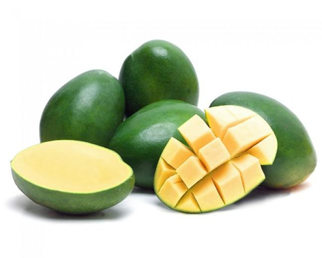 Зеленый манго Green Mango Thai (тайское название): Mamuang Season (сезонность): January-June Availability (вид): Whole Fresh and Peeled Frozen Packaging (упаковка): Tray or Carton Box